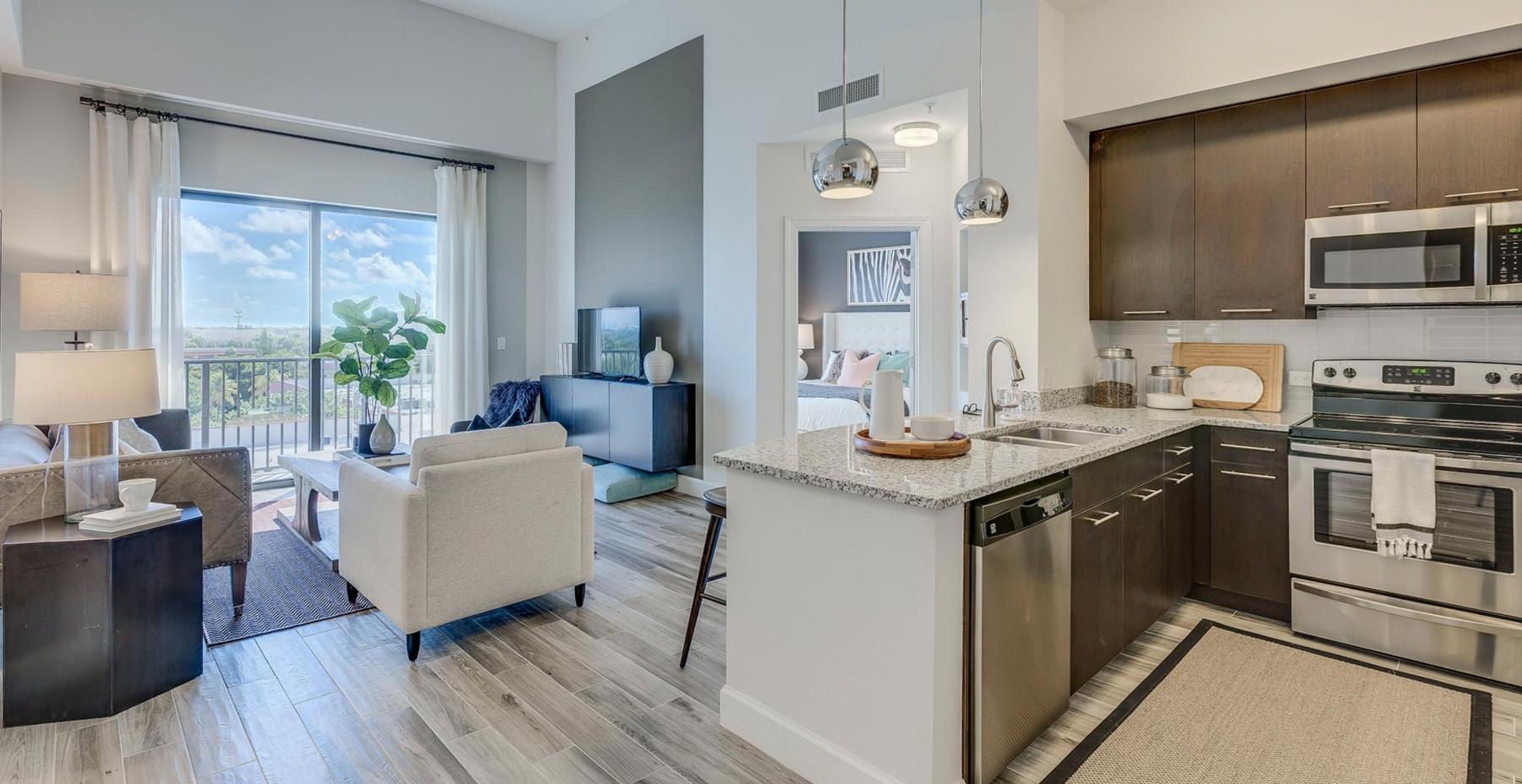 10 - Unit Living Area & Kitchen